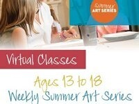 (AGE GROUP 13 to 18) $99 Virtual Summer Camp: Pinot's Palette Bay Shore - Week 1 - Beginning Drawing - Line & Structure