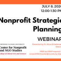 Nonprofit Strategic Planning Webinar July 8