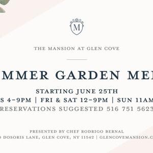 Summer Garden Menu