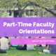 New Part-Time Faculty Orientation
