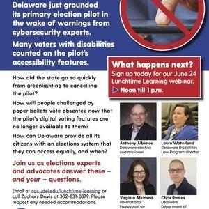 Webinar – Disability and Delaware's short-lived internet voting pilot