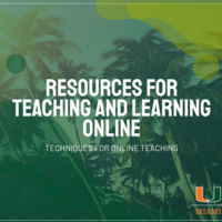 Resources for Teaching and Learning Online