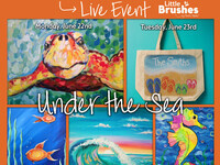 """""""Under the Sea"""" Virtual Kids Paint Camp! June 22nd-June 26th"""