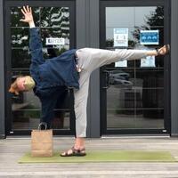Yoga at Nomans!