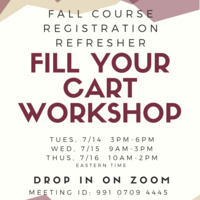 Fall Course Registration Refresher: Fill Your Cart Workshop