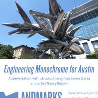 Monochrome for Austin sculpture