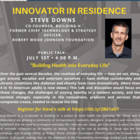 Innovator in Residence Steve Downs   Creative Inquiry