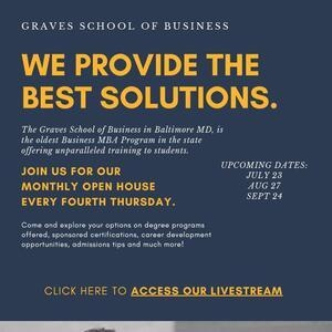 Graves Masters programs Virtual Open House