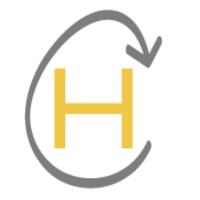 Hatchery H Logo (Capital H inside egg shaped arrow)