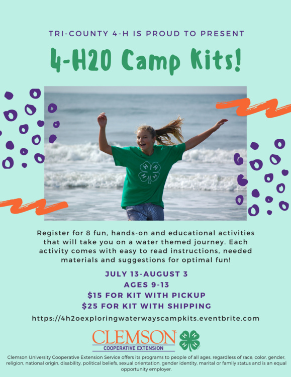 4-H2O Exploring Lowcountry Waterways Camp Kits