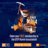 Claim your FREE membership to the UTEP Alumni Association!