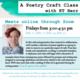 Deep Dive: A Poetry Craft Class Online