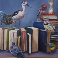 """How Do We Start This Discussion?"" Oil on Panel 30 x 30 inches by Laurie Hoen"