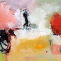 """Bursting"" Acrylic on canvas 16 x 20 inches by Inge Strack"