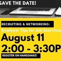 Recruiting and Networking Panel Discussion: Employer Tips for Job Searching in a Virtual World