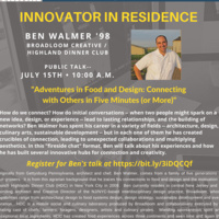 Innovator in Residence-Ben Walmer'98-Creative Inquiry
