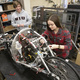 Engineering students work on their Supermileage vehichle that has won international competitions and can achieve more than 1800 miles per gallon.