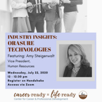 Industry Insights: OraSure Technologies featuring Amy Steigerwalt, Vice President Human Resources | Center for Career and Professional Development