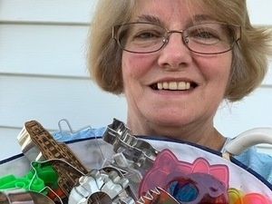 Darlene and her cookie cutters