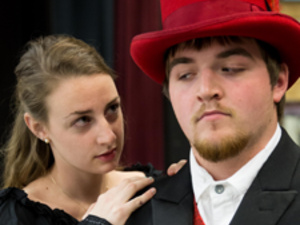 Two actors in a Pitt-Greensburg theatre production