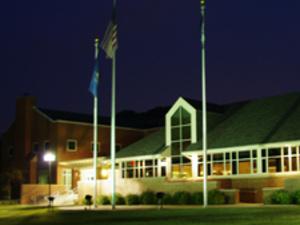 Chambers Hall at night