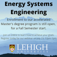 Energy Systems Engineering Master's Program Informational Webinar