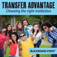 Transfer Advantage, Choosing the right institution, Blackboard Event