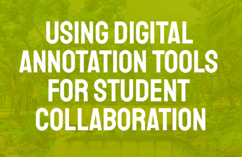 Using Digital Annotation Tools for Student Collaboration