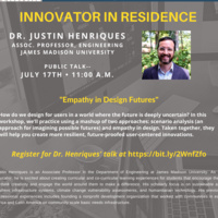 Innovator in Residence-Justin Henriques-Office of Creative Inquiry