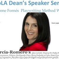 CoLA Dean's Speaker Series María Irene Fornés Playwriting Method Workshop