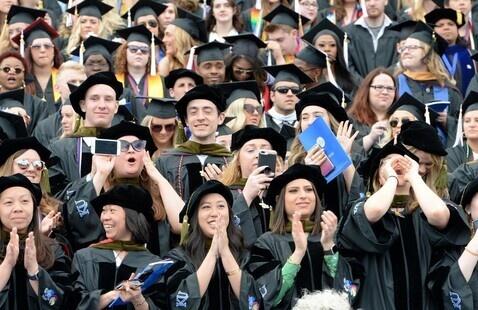 Graduates In Stadium