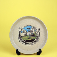 """Field of Dreams Movie Site, Dyersville, IA (commemorative plate)"" Archival pigment print by Kim Llerena and Nancy Daly"