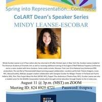 CoLART Dean's Speaker Series: Mindy Leanse-Escobar