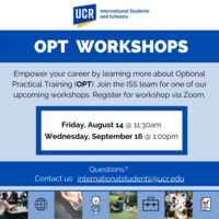 OPT Workshop (International Students Only)