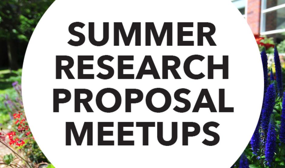 Summer Research Proposal Meetup
