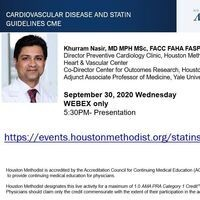 Khurram Nasir, MD MPH MSc, FACC FAHA FASPC FSSCT presents Cardiovascular Disease and Statin Guidelines