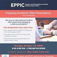 Preparing Academic Slide Presentations: Tips for Design
