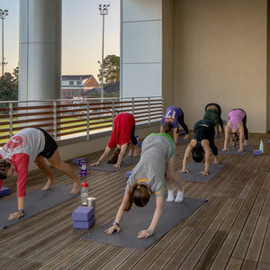 groupx class yoga workshop series arm balance