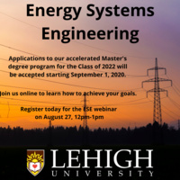 Masters in Energy Systems Engineering Information Session