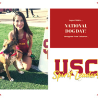 USC Spirit Leaders Celebrate Man's Best Friend - National Dog Day!