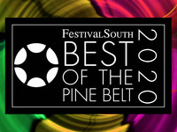 Colorful graphic featuring the words FestivalSouth Best of the Pine Belt 2020