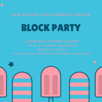 Images of popsicles with text about the event included in the description