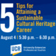 Webinar: 5 Tips for Attaining a Sustainable Cultural Heritage Career