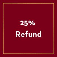 25% Refund Deadline