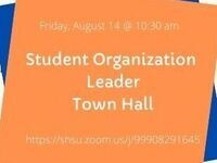 Student Organization Leader Town Hall