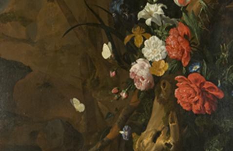 "Rachel Ruysch, ""Floral Still Life"", detail, 1686"