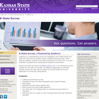 Landing Page for Qualtrics at K-State