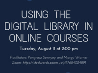 Using the Digital Library in Online Courses