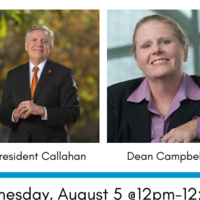 Benerd College Student Chat with President Callahan and Dean Campbell