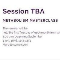 Save the Date - Metabolism Masterclass
